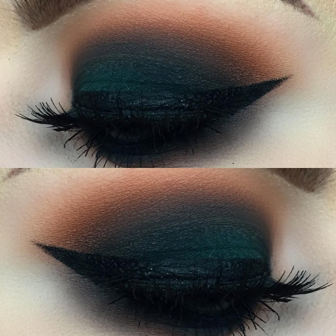 """""""make up practice this morning. not my best but ive been trying to use some different colors than i normally do @universodamaquiagem_oficial…"""""""