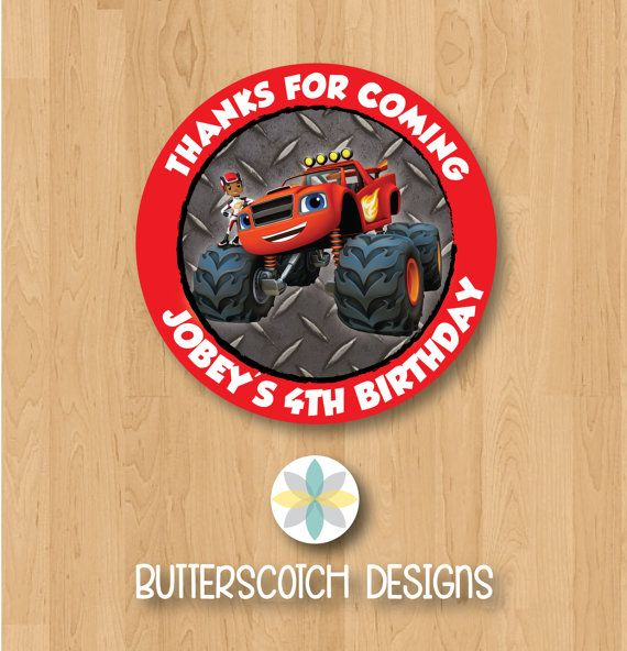Personalized Blaze The Monster Machines By Butterscotchdesign