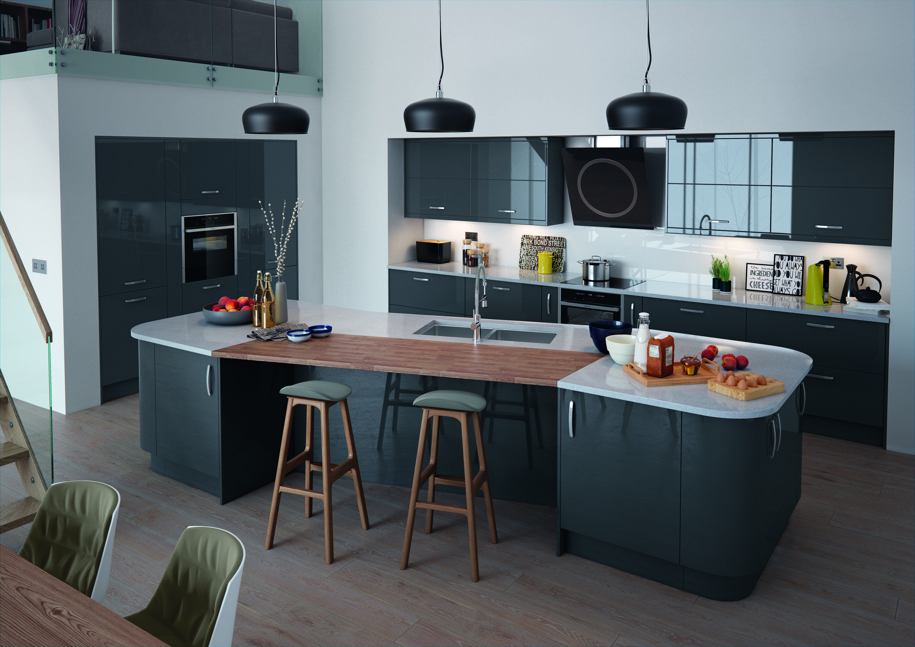 All Of Our Units Are Supplied Complete With Everything Included: Cabinet,  Doors, Drawers And Hinges Etc. Anthracite (Dark Grey) Gloss Slab Painted  And ...