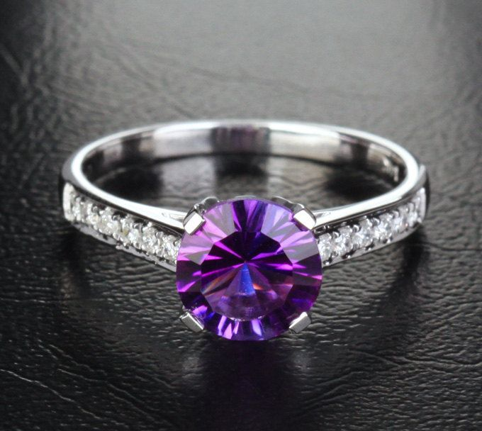 Promise Rings Gemstone Engagement Rings Purple Rings Purple