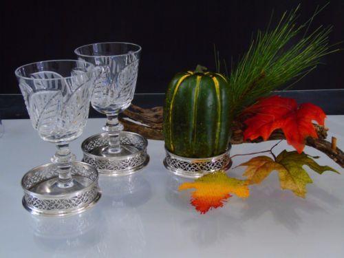 Italian-Silverplate-Bar-Coasters-Ornate-Pierced-Set-of-3-W-A-Italy-Holiday-Table