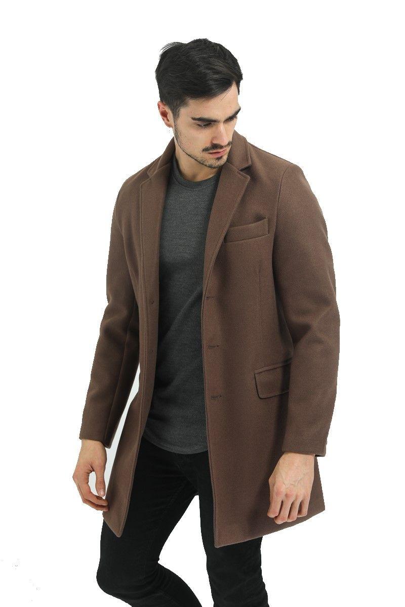 manteau homme couleur marron