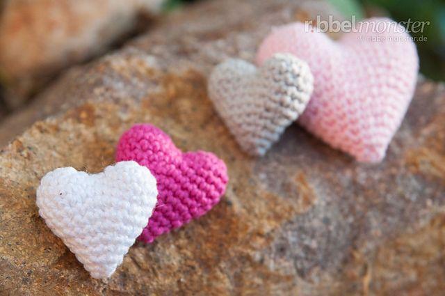 """Amigurumi – Crochet heart """"Sweet heart"""" pattern by Ribbelmonster (FP4Lisa / Anett Waßmann)"""