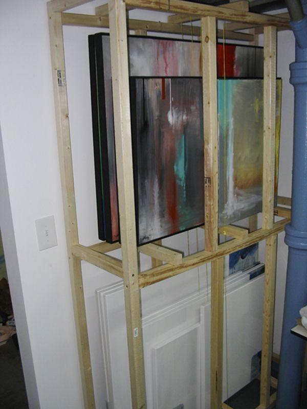 DIY painting storage racks