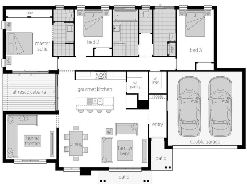 Cambridge Corner Block House Design Mcdonald Jones Homes Floor Plans Dream House Plans Cambridge House