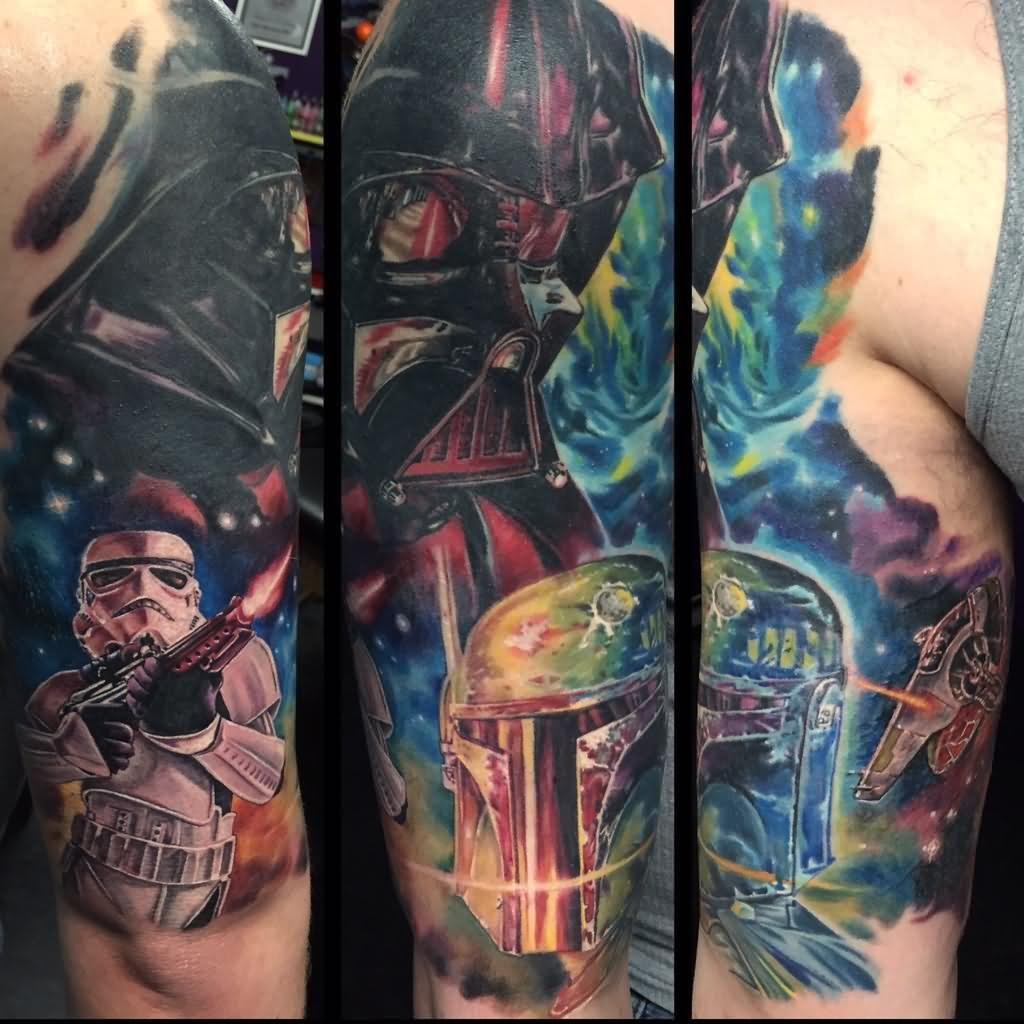 70 incredible star wars tattoos sleeve tattoos half