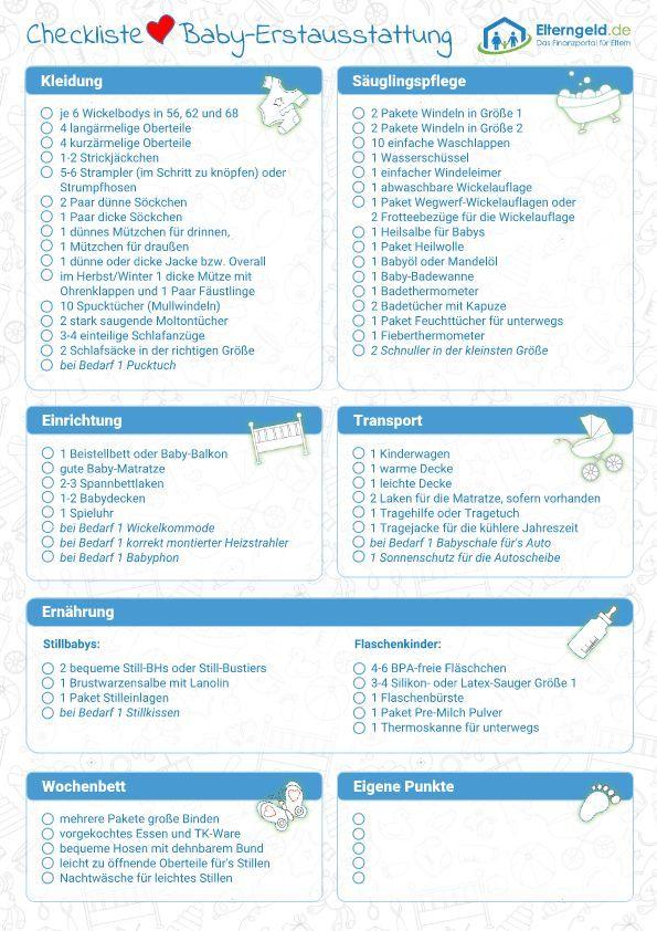 checklist-baby-erstausstattung_vorschau   - Babysachen - #BabySachen #checklistbabyerstausstattungvo...