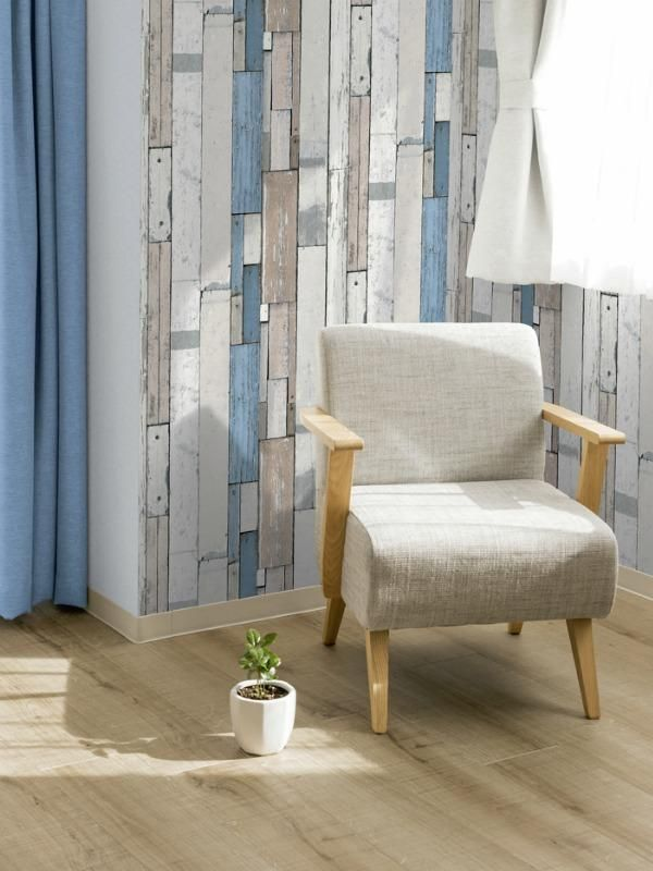 papier peint patchwork de planches bleues bleu ugepa papier peint patchwork et planches. Black Bedroom Furniture Sets. Home Design Ideas
