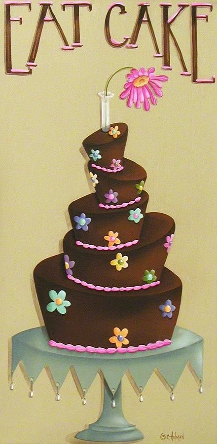 eat cake painting eat cake fine art print