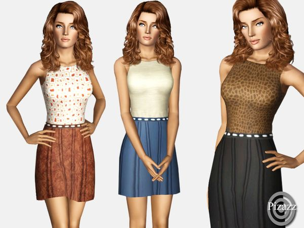 Basic Casual dress by pizazz - Sims 3 Downloads CC Caboodle