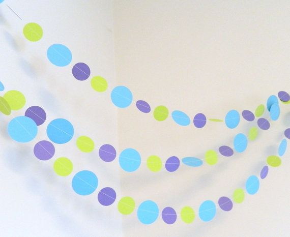 Monsters Inc Theme 1st Birthday decor 10 ft paper garland Little