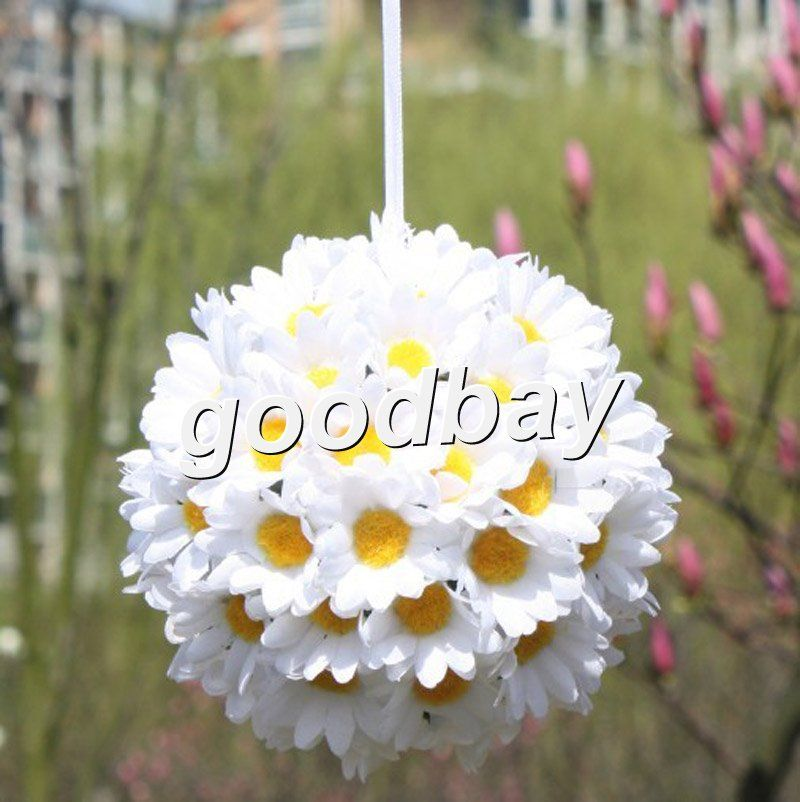 Many Colors You Choose Artificial Flower Daisy Ball Silk Flower Real Touch Daisy Ball Home Decorations For Wedding Daisy Flower Gerbera Flower Wedding Flowers