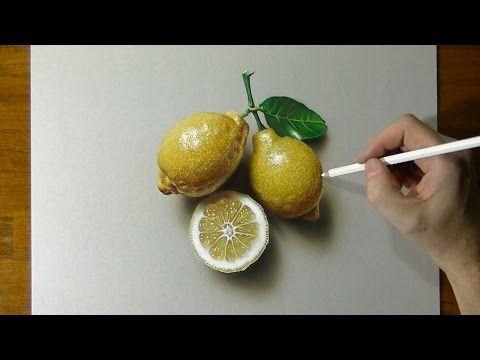 Drawing Of Some Lemons How To Draw 3d Art Youtube Dibujos A Lapiz Dibujos De Colores Dibujos