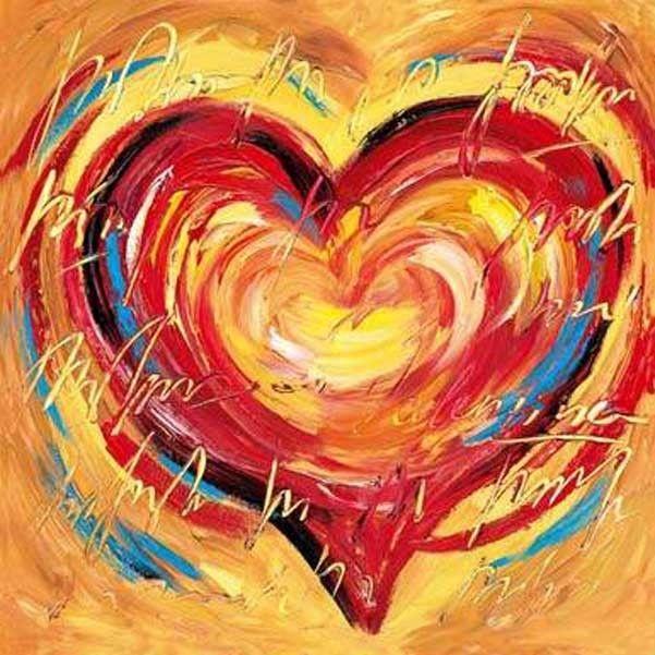 abstracte kunst een hart familiedag pinterest abstracte kunst hart en posters. Black Bedroom Furniture Sets. Home Design Ideas