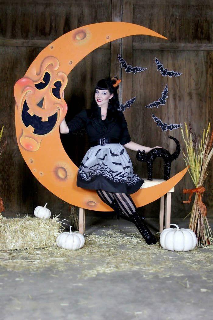 For when you say I boo Halloween prop Halloweenprop Halloween decorating ideas Nightmare before christmas Jack skellington Halloween witches Happy halloween Witch hats Ha...