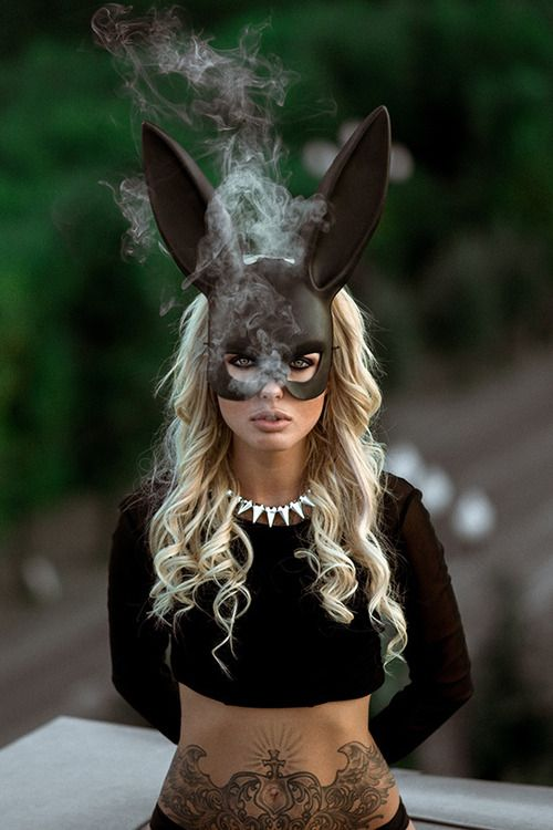 Aspiring New Fashion Women Lace Rabbit Bunny Ears Veil Hair Accessories Sexy Black Mask Halloween Party Sexy Hair Band Club Cosplay Handsome Appearance Girl's Accessories