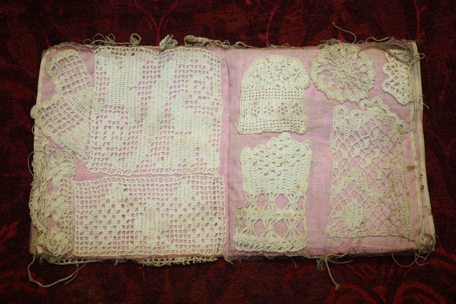 Sample Crochet Book Over 70 Hand Stitched Sampler Antique Handmade Fine Lace   eBay