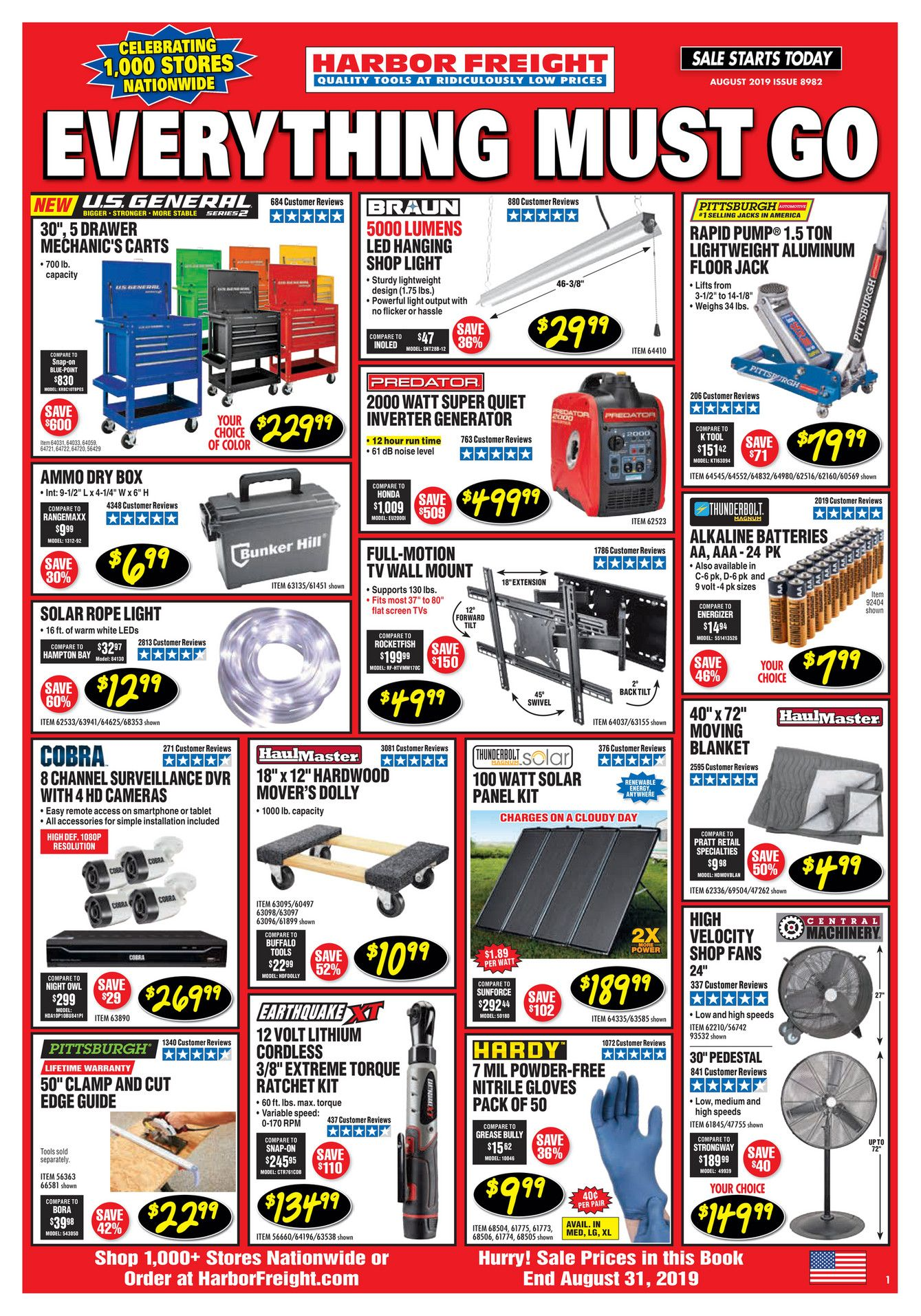 harbor freight flyer and monthly ad