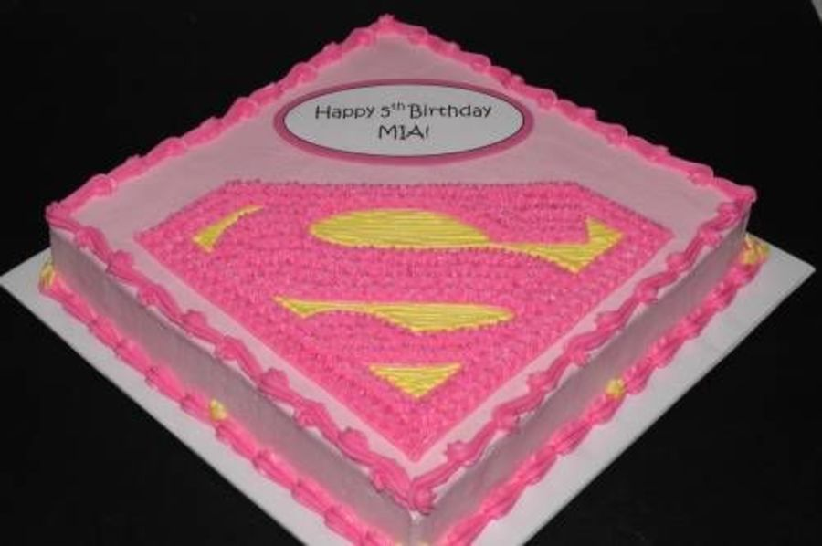 Supergirl 7.5 edible icing birthday cake topper