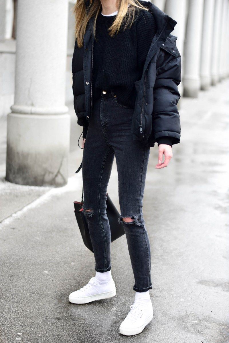 Puffer jacket in a cool way Katiquette | Winter jacket