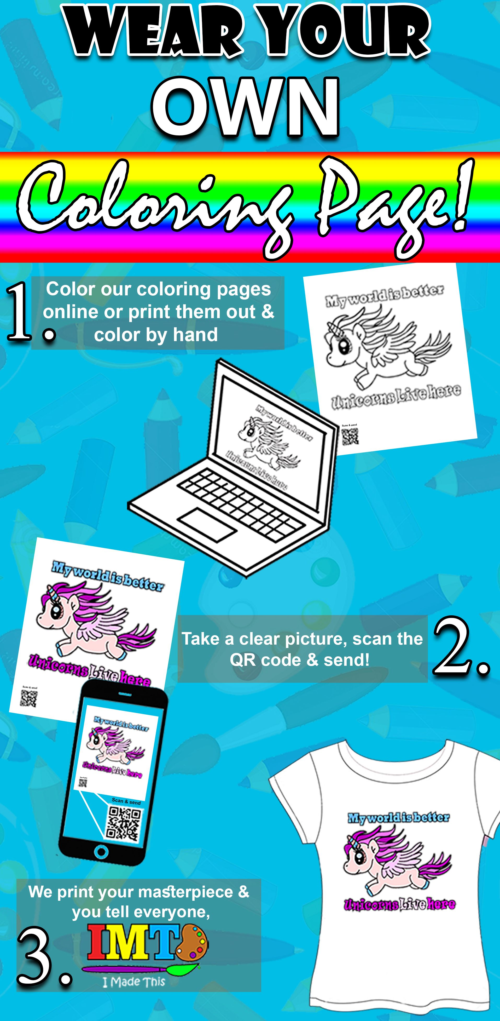 Now you can see your kids coloring page come to life color any of our