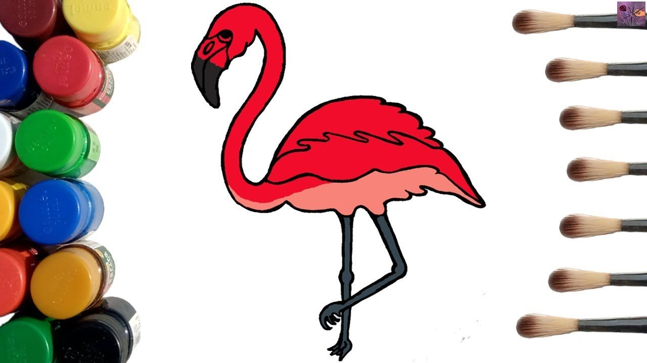 Flamingo Coloring Pages How To Draw A Flamingo Easy Step By Step Flamingo Coloring Page Bird Coloring Pages Unique Coloring Pages