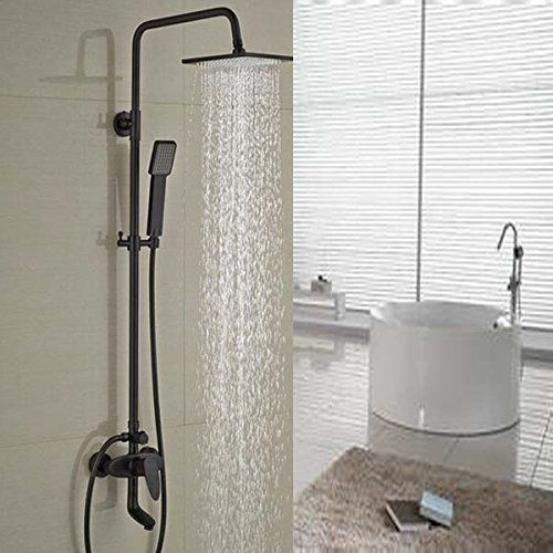 Senlesen Oil Rubbed Bronze Rain Shower Single Handle Tub Spout