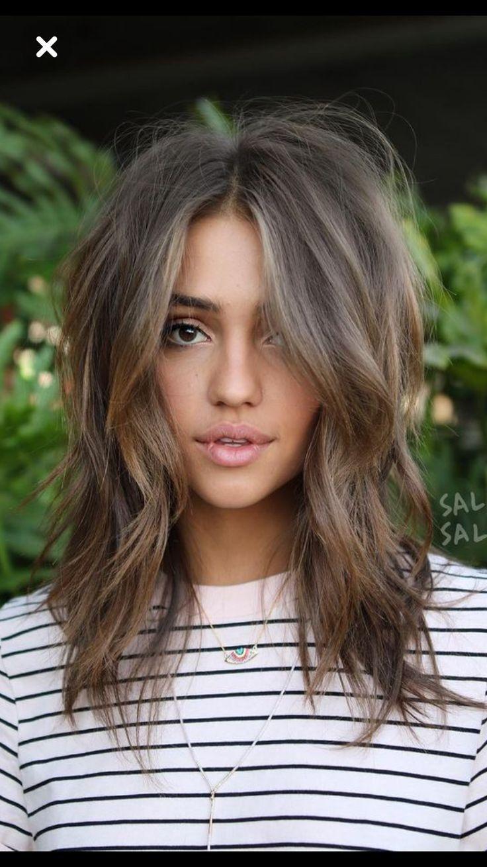 Explore More Deeply About What Is A Lob Haircut Beautiful Best 25 Long Bob Brunette Idea Haar En Nagels Halflang Haar Met Pony Kapsels Halflang Haar Opgestoken