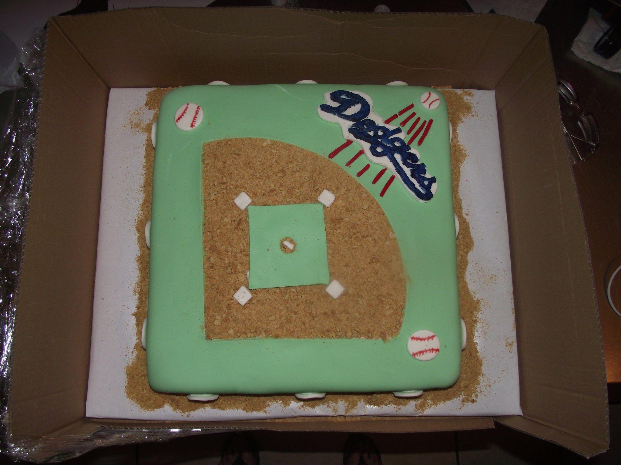 Dodgers Baseball Themed Cake   Cake decorating frosting ...