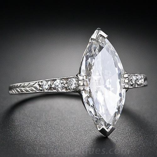 1 41 Carat Art Deco Marquise Diamond Engagement Ring 10 1 4667 L Vintage Engagement Rings Unique Marquise Diamond Engagement Ring Engagement Rings Marquise