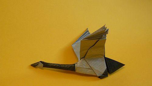 origami goose | Paper Craft Inspiration | Origami, Origami ... on