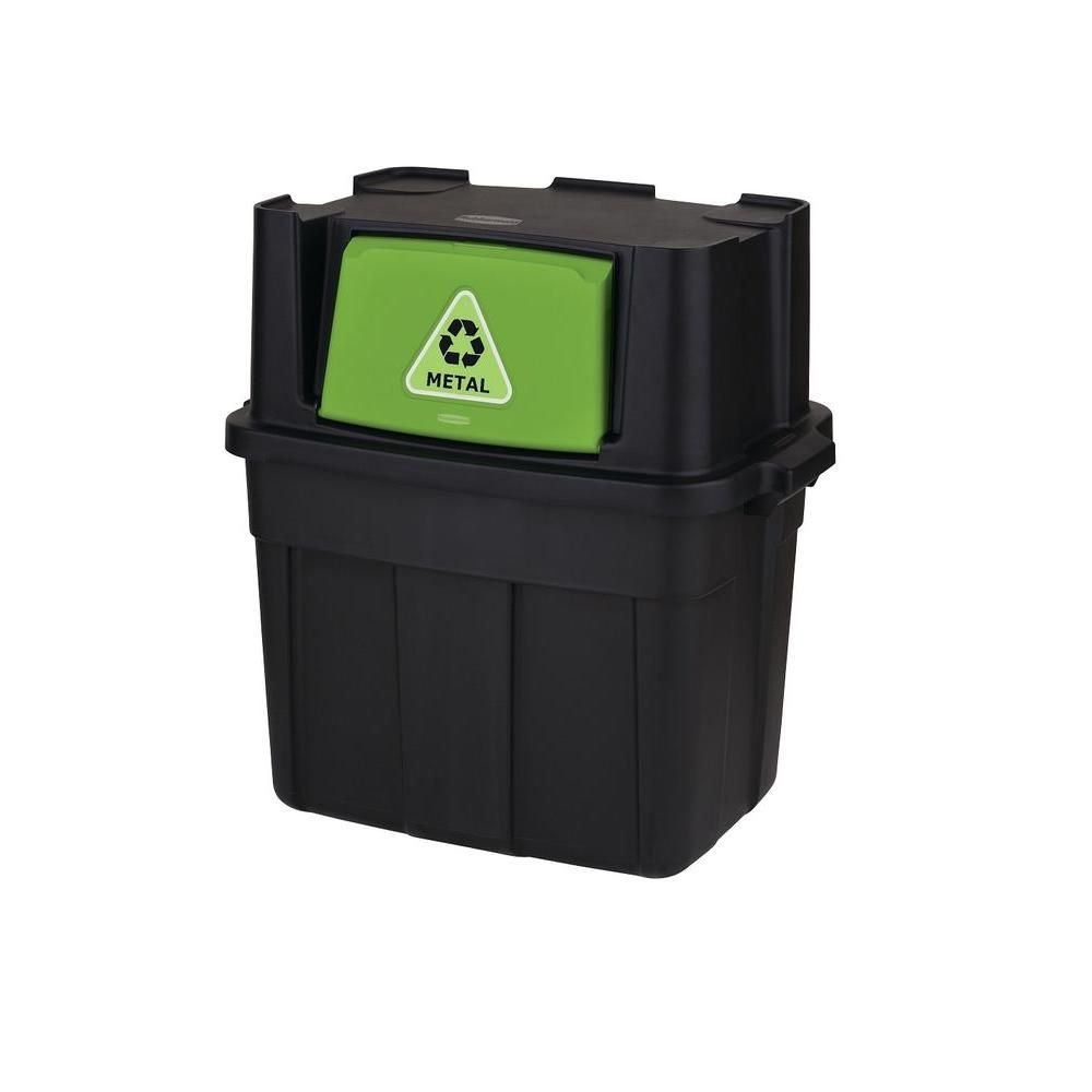 Home Depot Recycling Bins 245 Galstackable Recycling Bin Black