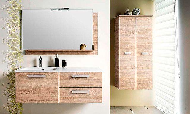 ensemble Chiara de Cedam coloris chêne vintage avec meuble 120 cm 3