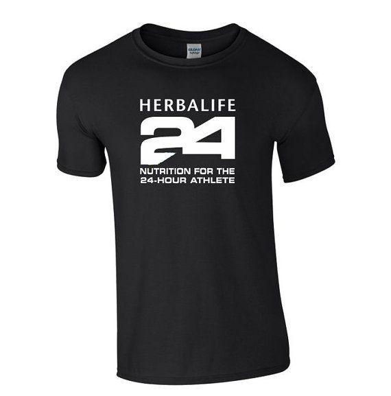 Herbalife 24 Heavy Cotton Black T Shirt For Men White Letters Herbalife Black Tshirt Shirts