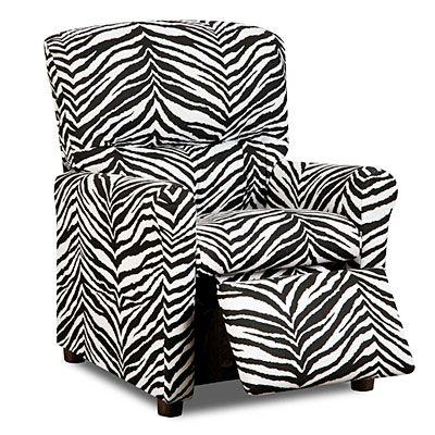 zebra kiddie recliner kids recliners