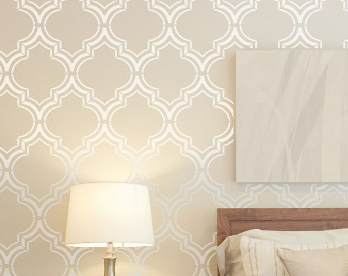 Moroccan Double Wall Stencil Large Pattern Royal Moroccan Wall