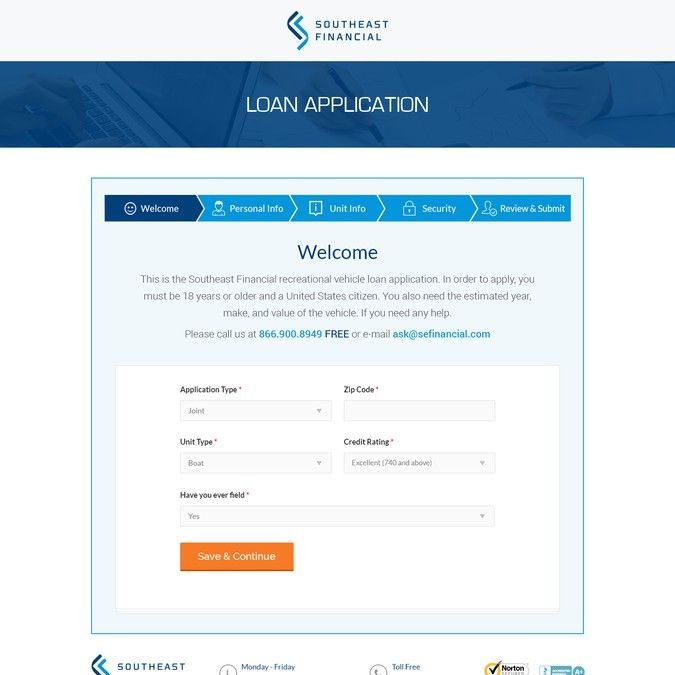 Create a Credit Application Landing Page Design by Iconic Graphics - credit application