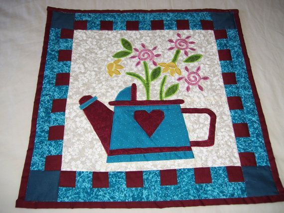 Watering can quilt would fit into a tight space or by AQuiltingV ...