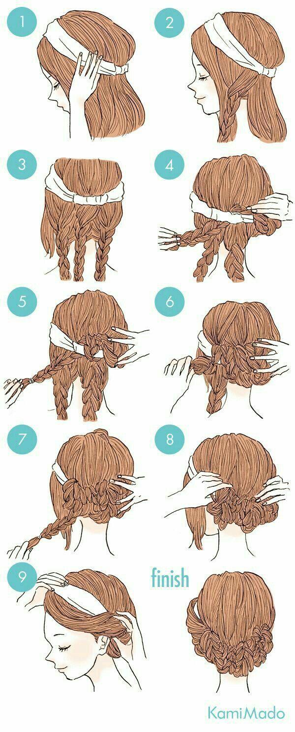 Die Zöpfe machen das langen Haaren so viel leicht... -