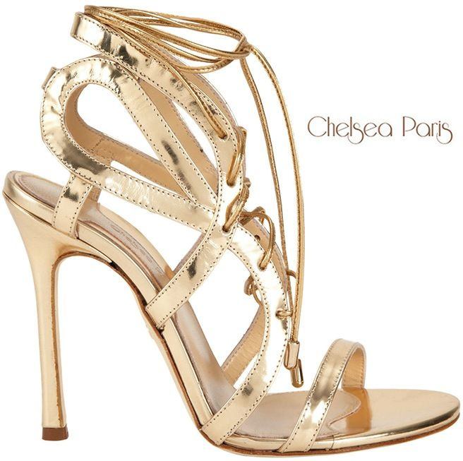 footlocker cheap price Chelsea Paris Metallic Ankle-Strap Sandals sale wide range of cheap low price new styles online discount exclusive wwwUSHb
