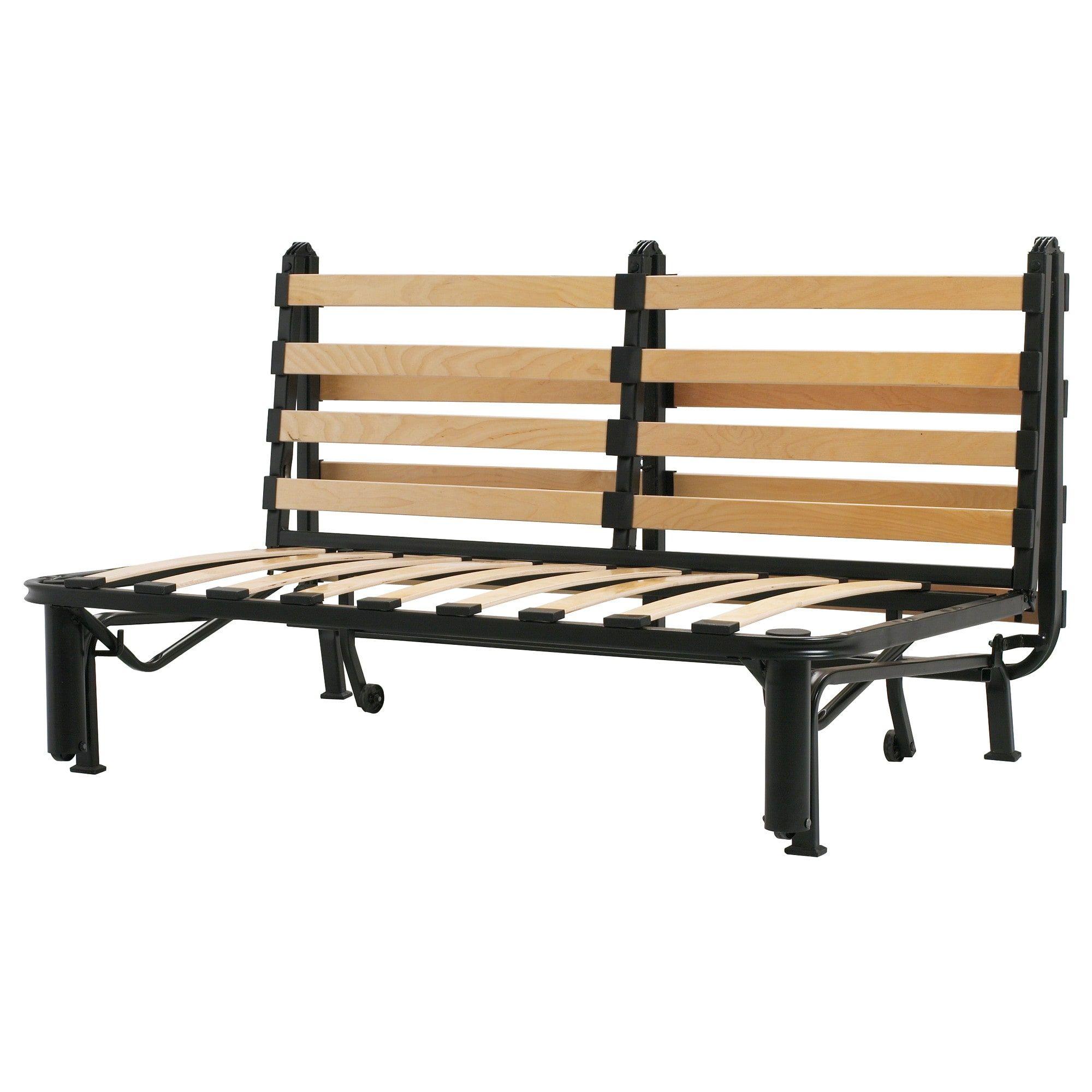 Lycksele Sleeper Sofa Frame Black Ikea In 2020 Lycksele Sofa Bed Frame Ikea Sofa Bed