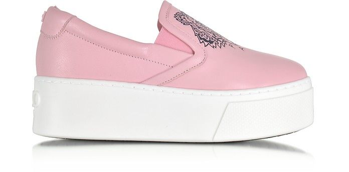Tiger On Pink Slip Kenzo Flatform Leather Sneakerskenzoshoes rxBoeWdC