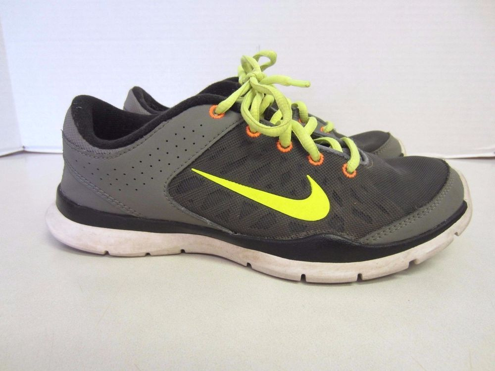 Nike Shoes 7 Flex Trainer Gray Neon Yellow Orange Womens