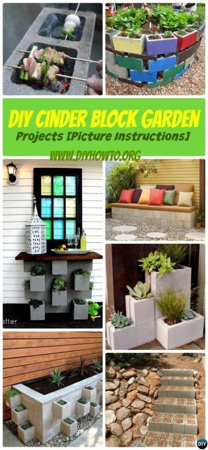Diy Garden Borders Thoughts 15 Super Ideas #betonblockgarten Diy Garden Borders ...,  #betonb... #betonblockgarten
