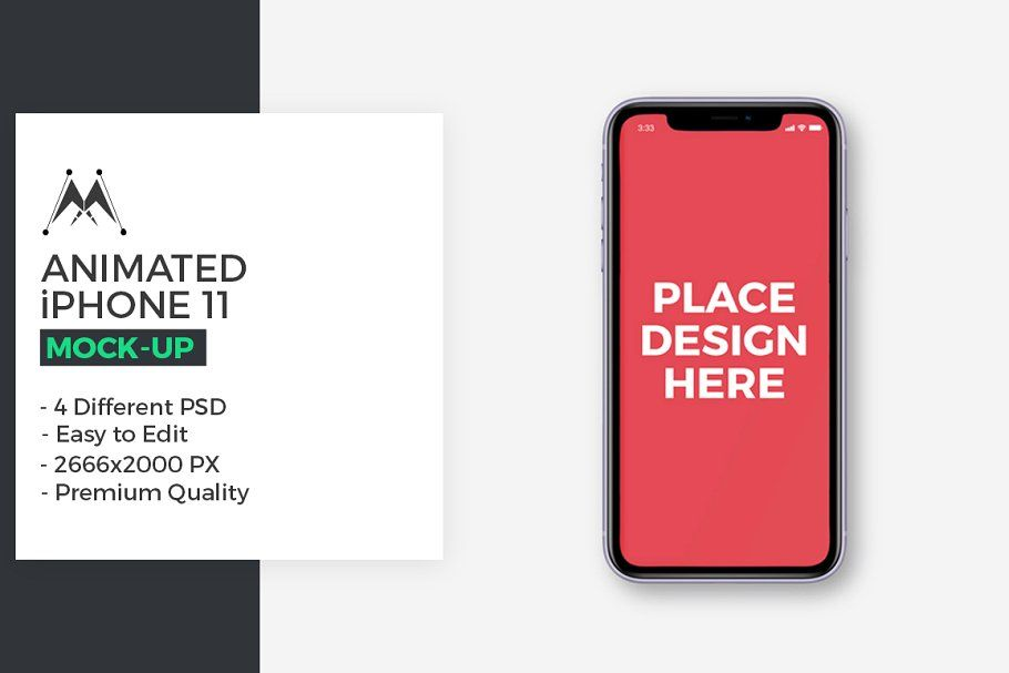 Animated iphone 11 mockups in 2020 iphone mockup psd