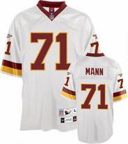 NFL Washington Redskins Charles Mann  71 White Reebok Jersey ... 63b9df4c3