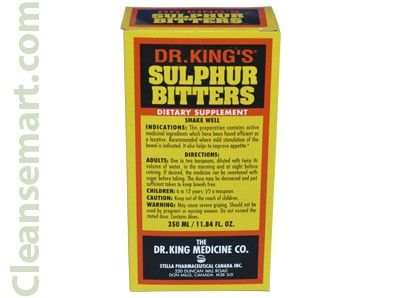 dr king sulphur bitters, sulphur bitters blood purifier, king