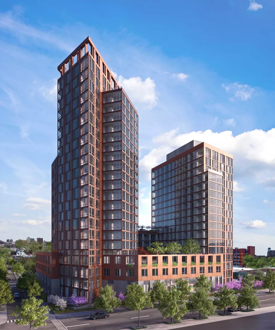 Astoria S Halletts Point Megaproject Launches First Affordable Housing Lottery Modern Architecture Building Condominium Architecture Building