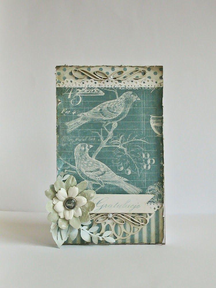 Poddasze Niebiesko Mi Card Art Cards Handmade Graphic 45