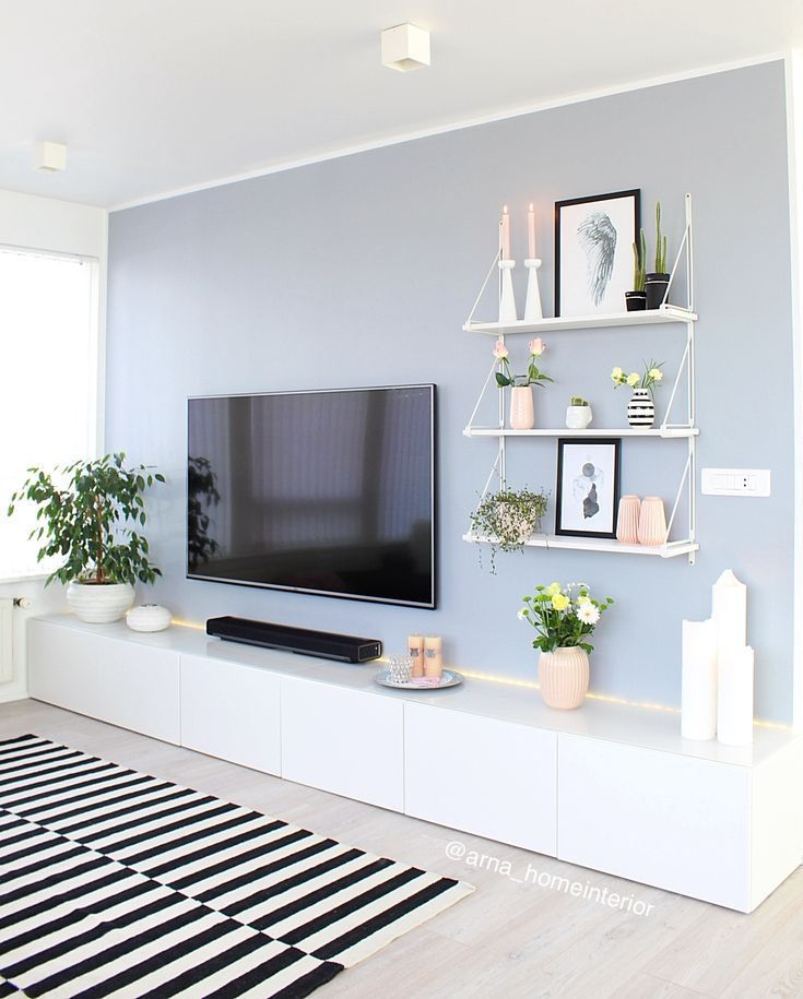 Clean And Simple Living Room Space With Entertainment Center Ideas In 2021 Simple Living Room Living Room Entertainment Living Room Entertainment Center